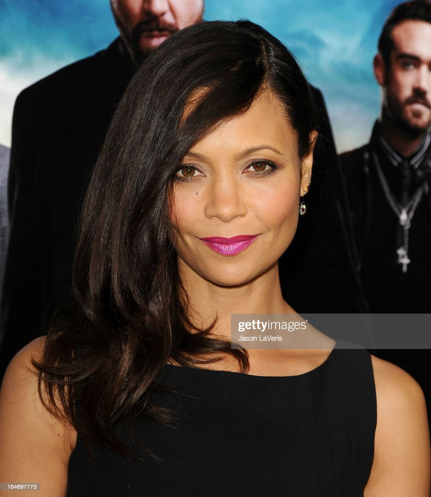 Actress Thandie Newton attends the premiere of 'Rogue' at ArcLight Hollywood on March 26, 2013 in Hollywood, California.
