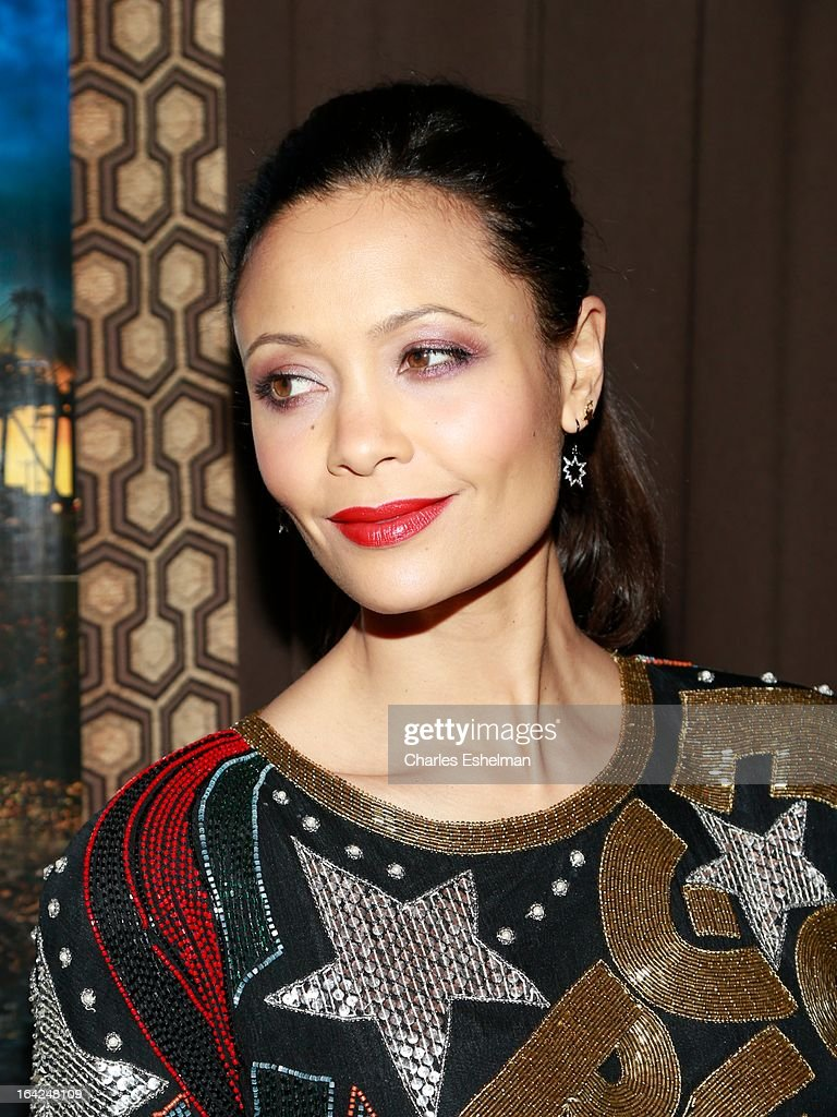 Actress Thandie Newton attends the 'Rogue' premiere at the Tribeca Grand Hotel - Screening Room on March 21, 2013 in New York City.