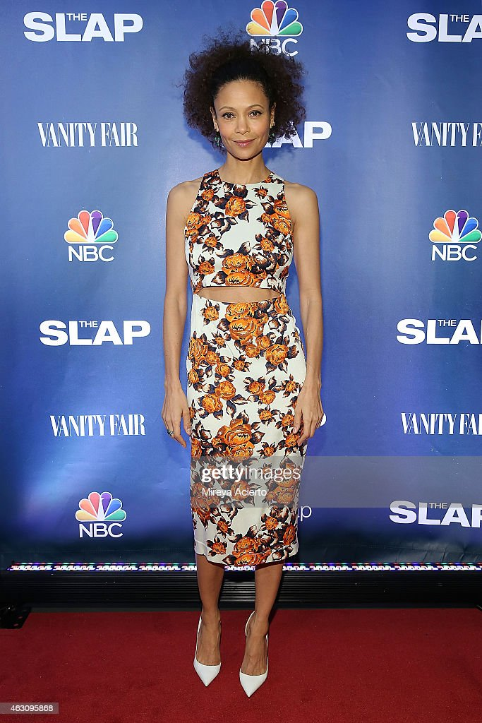 Actress <a gi-track='captionPersonalityLinkClicked' href=/galleries/search?phrase=Thandie+Newton&family=editorial&specificpeople=210812 ng-click='$event.stopPropagation()'>Thandie Newton</a> attends 'The Slap' New York Premiere Party at The New Museum on February 9, 2015 in New York City.