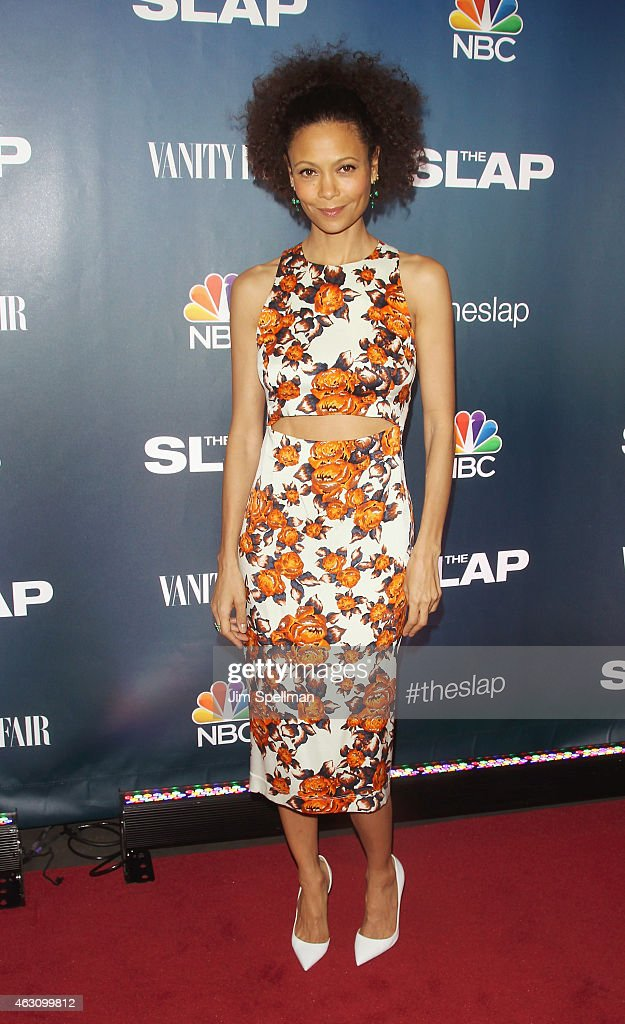 Actress <a gi-track='captionPersonalityLinkClicked' href=/galleries/search?phrase=Thandie+Newton&family=editorial&specificpeople=210812 ng-click='$event.stopPropagation()'>Thandie Newton</a> attends 'The Slap' premiere party at The New Museum on February 9, 2015 in New York City.