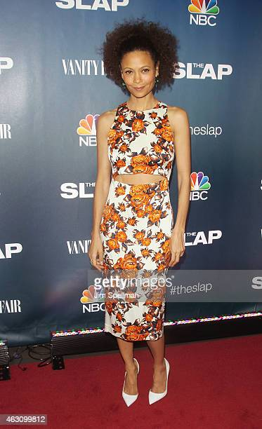 Actress Thandie Newton attends 'The Slap' premiere party at The New Museum on February 9 2015 in New York City