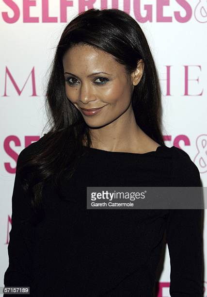 Actress Thandie Newton attends the VIP launch party for British couture label Marchesas Spring/Summer 2006 collection founded by Georgina Chapman and...
