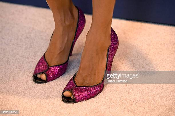 Actress Thandie Newton shoe detail attends Variety's Power Of Women Luncheon at the Beverly Wilshire Four Seasons Hotel on October 9 2015 in Beverly...