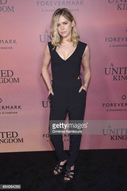 Actress Theodora Miranne attends the 'A United Kingdom' World Premiere at The Paris Theatre on February 6 2017 in New York City