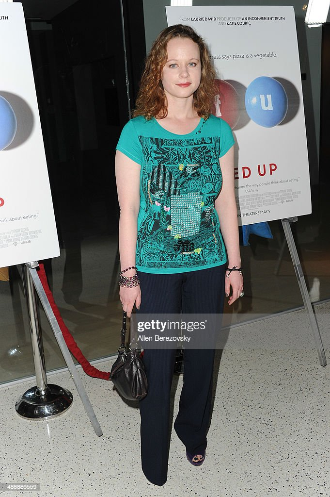 Actress Thora Birch arrives at the Los Angeles premiere of 'Fed Up' at Pacfic Design Center on May 8, 2014 in West Hollywood, California.