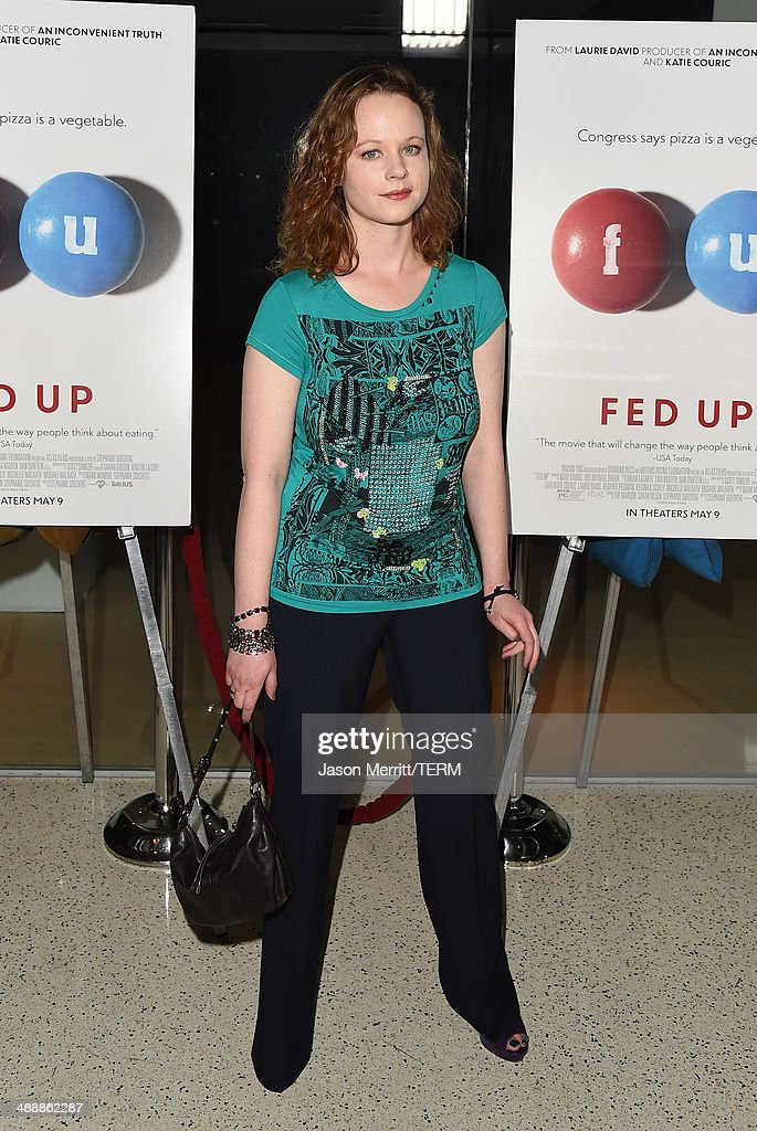 Actress <a gi-track='captionPersonalityLinkClicked' href=/galleries/search?phrase=Thora+Birch&family=editorial&specificpeople=202930 ng-click='$event.stopPropagation()'>Thora Birch</a> attends the 'Fed Up' premiere held at the Pacfic Design Center on May 8, 2014 in West Hollywood, California.