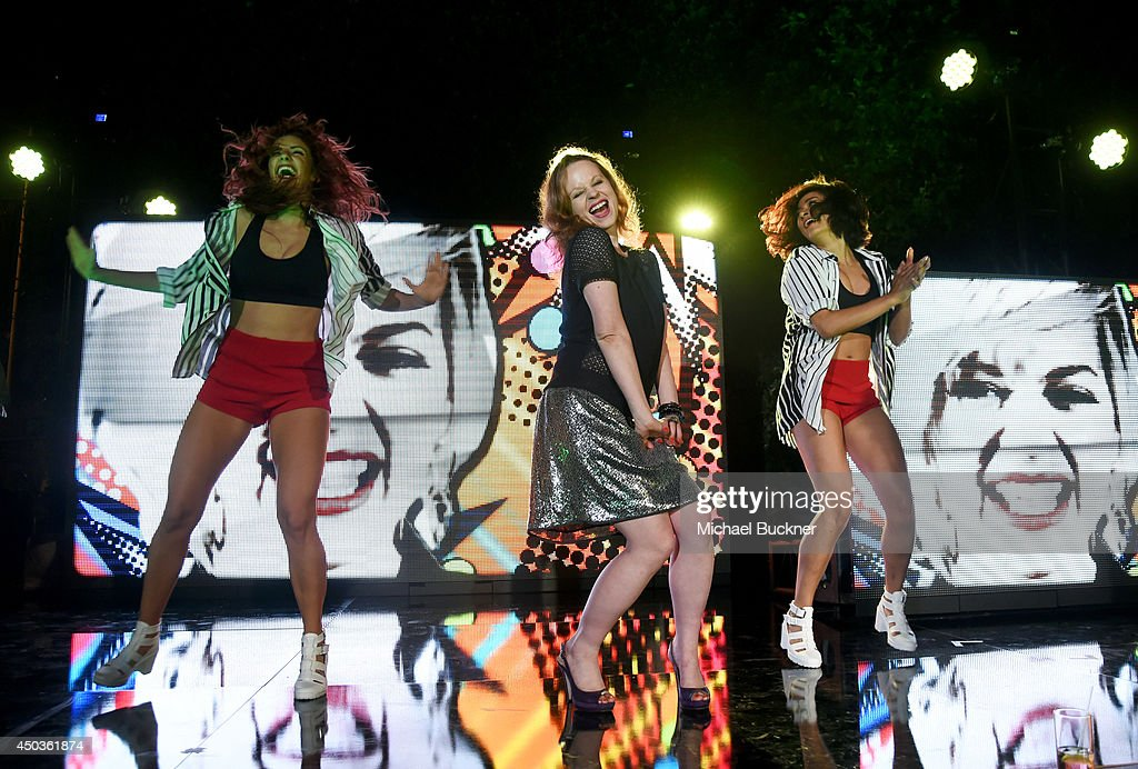 Actress <a gi-track='captionPersonalityLinkClicked' href=/galleries/search?phrase=Thora+Birch&family=editorial&specificpeople=202930 ng-click='$event.stopPropagation()'>Thora Birch</a> dances onstage the Take-Two E3 Kickoff Party at Cecconi's Restaurant on June 9, 2014 in Los Angeles, California.