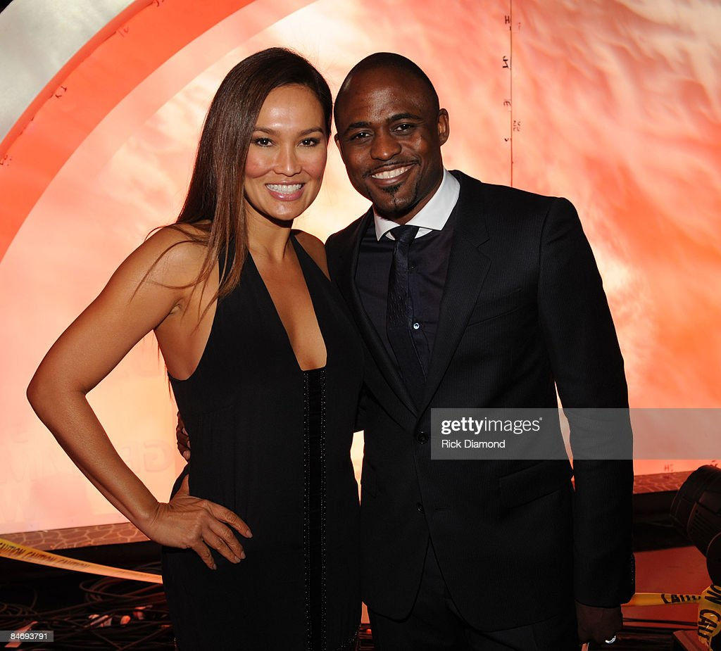 Actress Tia Carrere and TV personality Wayne Brady attend the 51st Annual GRAMMY Awards held at the Staples Center on February 8, 2009 in Los Angeles, California.