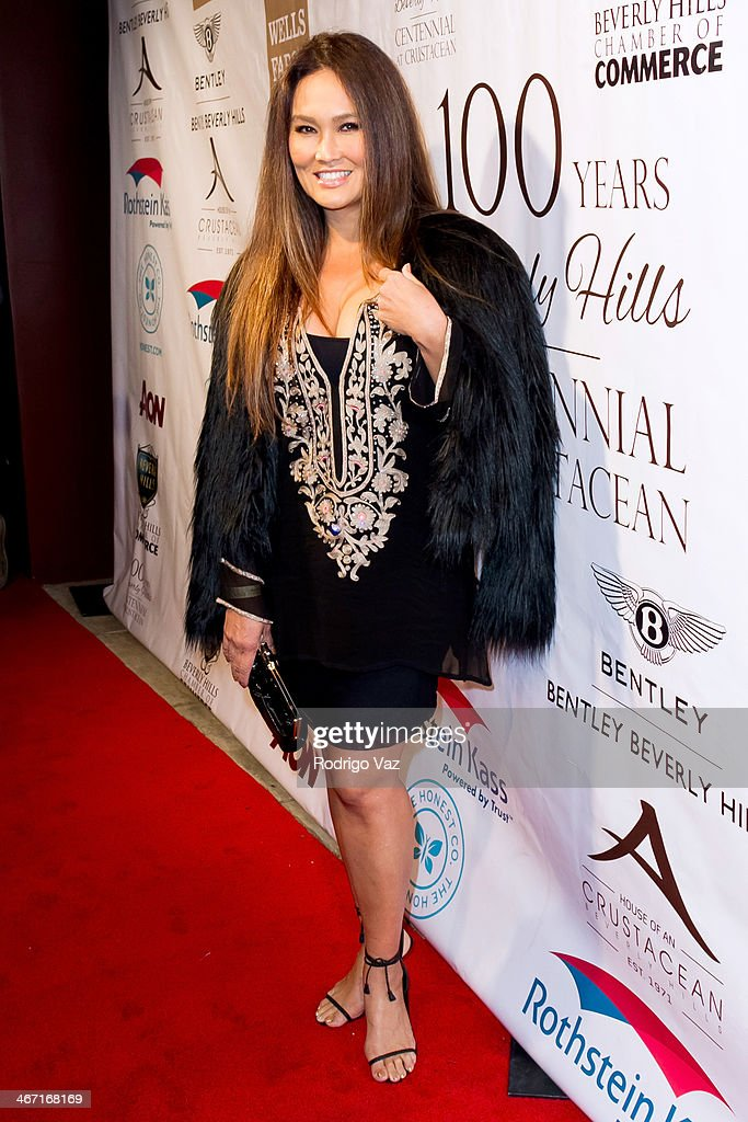 Actress <a gi-track='captionPersonalityLinkClicked' href=/galleries/search?phrase=Tia+Carrere&family=editorial&specificpeople=209062 ng-click='$event.stopPropagation()'>Tia Carrere</a> attends the Beverly Hills Chamber of Commerce hosting