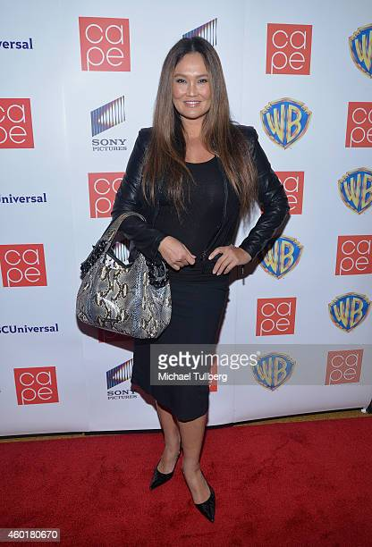 Actress Tia Carrere attends the CAPE Holiday Party at El Rey Theatre on December 8 2014 in Los Angeles California