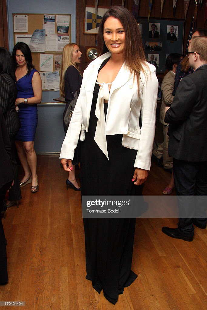 Actress Tia Carrere attends the 'Chasing The Hill' reception held at the Pacific Mariners Yacht Club on June 12, 2013 in Marina del Rey, California.