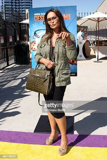 Actress Tia Carrere attends the Despicable Me Minion Mayhem and Super Silly Fun Land open at Universal Studios Hollywood on April 11 2014 in...