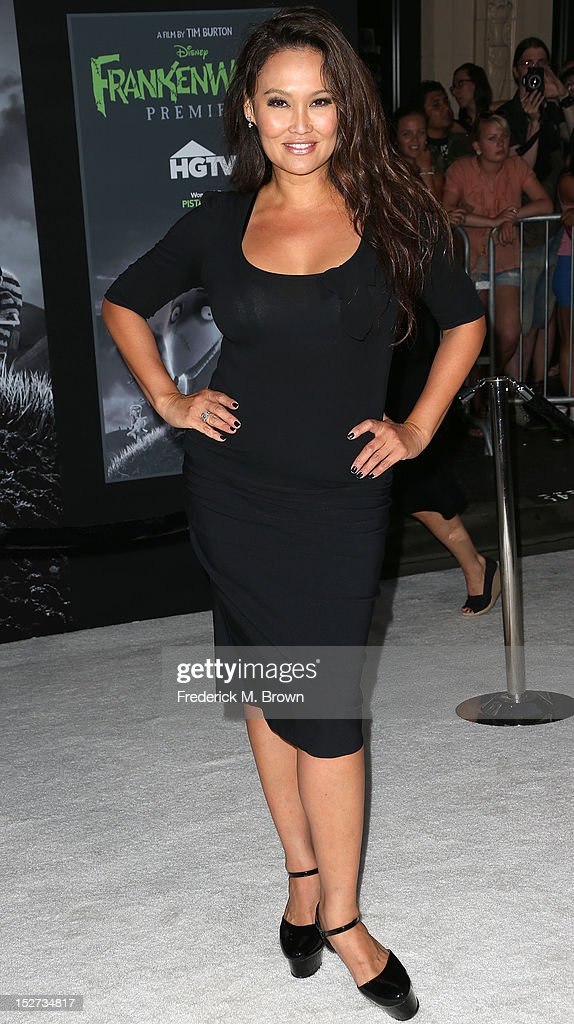 Actress Tia Carrere attends the Premiere Of Disney's 'Frankenweenie' at the El Capitan Theatre on September 24, 2012 in Hollywood, California.