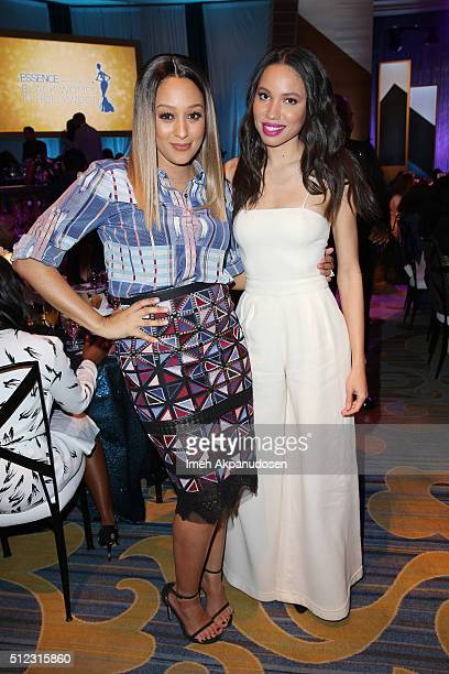 Actress Tia Mowry and actress Jurnee SmollettBell attend the 2016 ESSENCE Black Women In Hollywood awards luncheon at the Beverly Wilshire Four...
