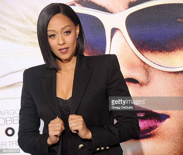 Actress Tia Mowry arrives at the Los Angeles World Premiere of Warner Bros Pictures 'Focus' at TCL Chinese Theatre on February 24 2015 in Hollywood...