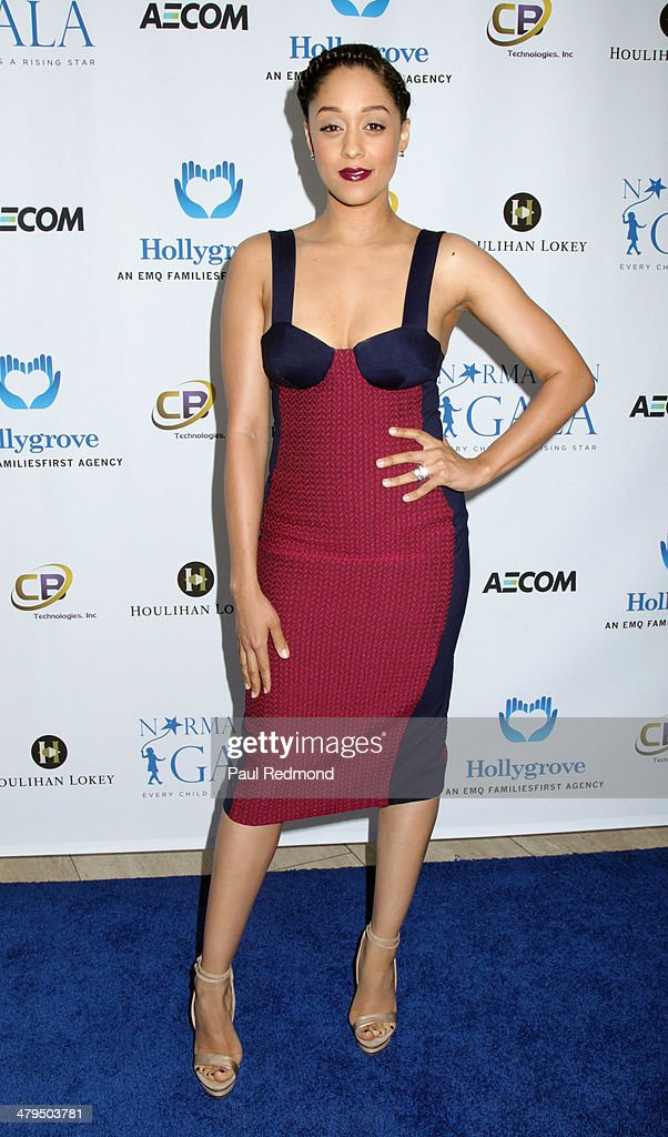 Actress <a gi-track='captionPersonalityLinkClicked' href=/galleries/search?phrase=Tia+Mowry&family=editorial&specificpeople=631098 ng-click='$event.stopPropagation()'>Tia Mowry</a> arriving at the 2nd Annual Norma Jean Gala 2014 at The Paley Center for Media on March 18, 2014 in Beverly Hills, California.