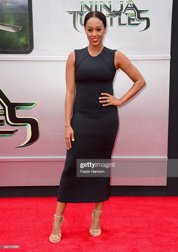 Actress Tia Mowry attends Paramount Pictures' 'Teenage Mutant Ninja Turtles' premiere at Regency Village Theatre on August 3, 2014 in Westwood, California.