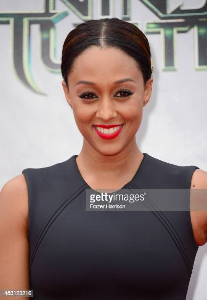 Actress Tia Mowry attends Paramount Pictures' 'Teenage Mutant Ninja Turtles' premiere at Regency Village Theatre on August 3 2014 in Westwood...