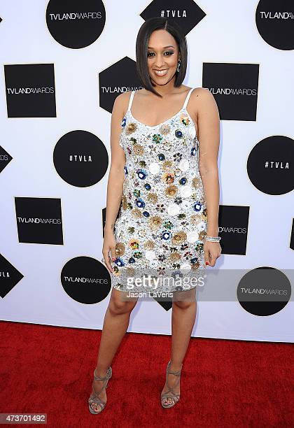Actress Tia Mowry attends the 2015 TV LAND Awards at Saban Theatre on April 11 2015 in Beverly Hills California