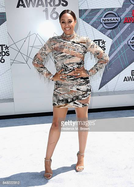 Actress Tia Mowry attends the 2016 BET Awards at the Microsoft Theater on June 26 2016 in Los Angeles California