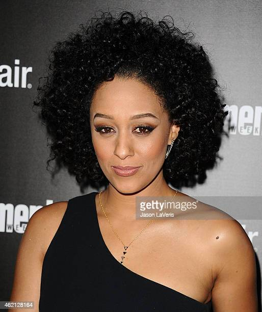 Actress Tia Mowry attends the Entertainment Weekly celebration honoring nominees for the Screen Actors Guild Awards at Chateau Marmont on January 24...