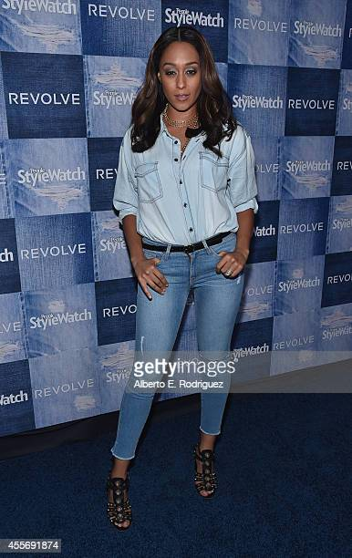 Actress Tia Mowry attends the People StyleWatch Denim Event at The Line on September 18 2014 in Los Angeles California