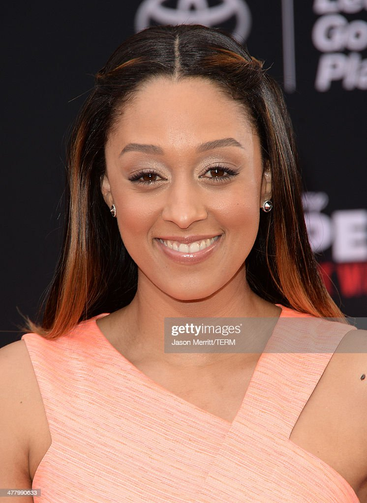 Actress Tia Mowry attends the premiere of Disney's 'Muppets Most Wanted' at the El Capitan Theatre on March 11, 2014 in Hollywood, California.