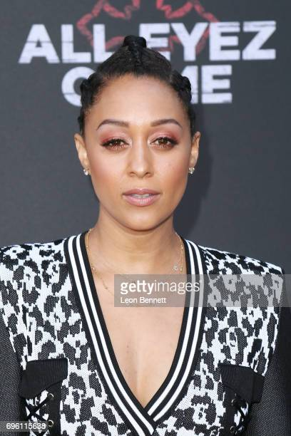 Actress Tia Mowry attends the premiere of Lionsgate's 'All Eyez On Me' at the Westwood Village Theatres on June 14 2017 in Los Angeles California