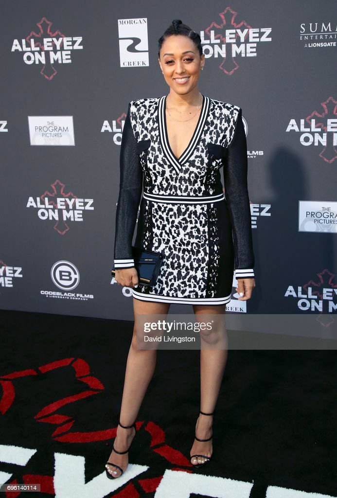 Actress Tia Mowry attends the premiere of Lionsgate's 'All Eyez On Me' on June 14, 2017 in Los Angeles, California.
