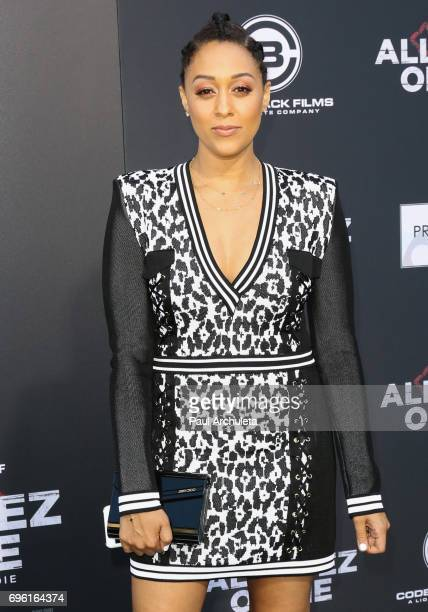 Actress Tia Mowry attends the premiere of Lionsgate's 'All Eyez On Me' on June 14 2017 in Los Angeles California California