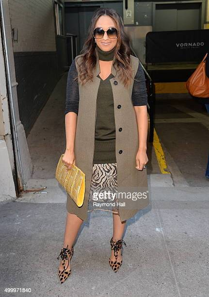 Actress Tia Mowry is seen outside 'Huff Post Live' on December 4 2015 in New York City