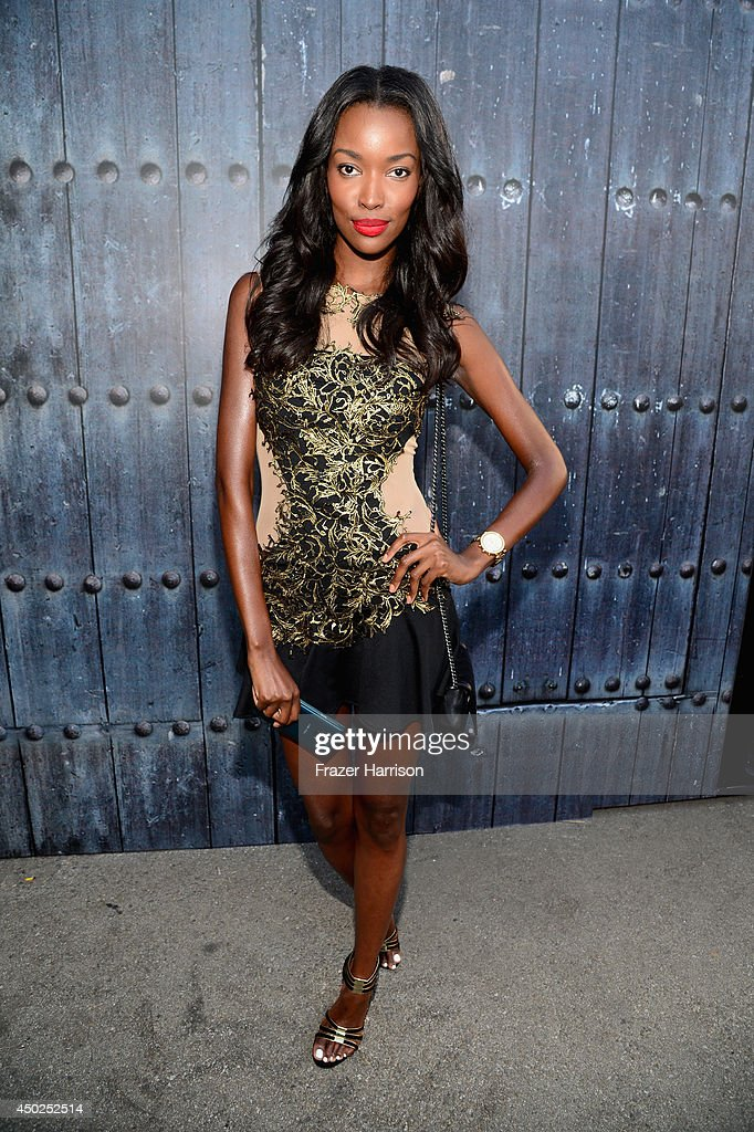 Actress Tia Shipman attends Spike TV's 'Guys Choice 2014' at Sony Pictures Studios on June 7, 2014 in Culver City, California.