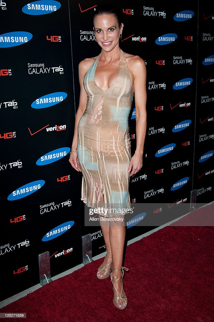 Actress Tia Texada arrives at the Samsung Galaxy Tab 10.1 launch party at The Beverly on August 2, 2011 in Los Angeles, California.