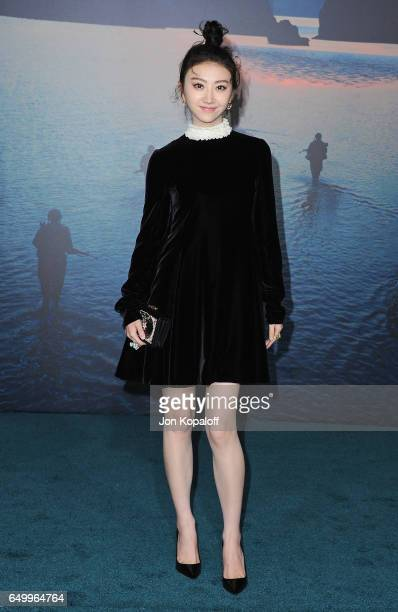 Actress Tian Jing arrives at the Los Angeles Premiere 'Kong Skull Island' at Dolby Theatre on March 8 2017 in Hollywood California