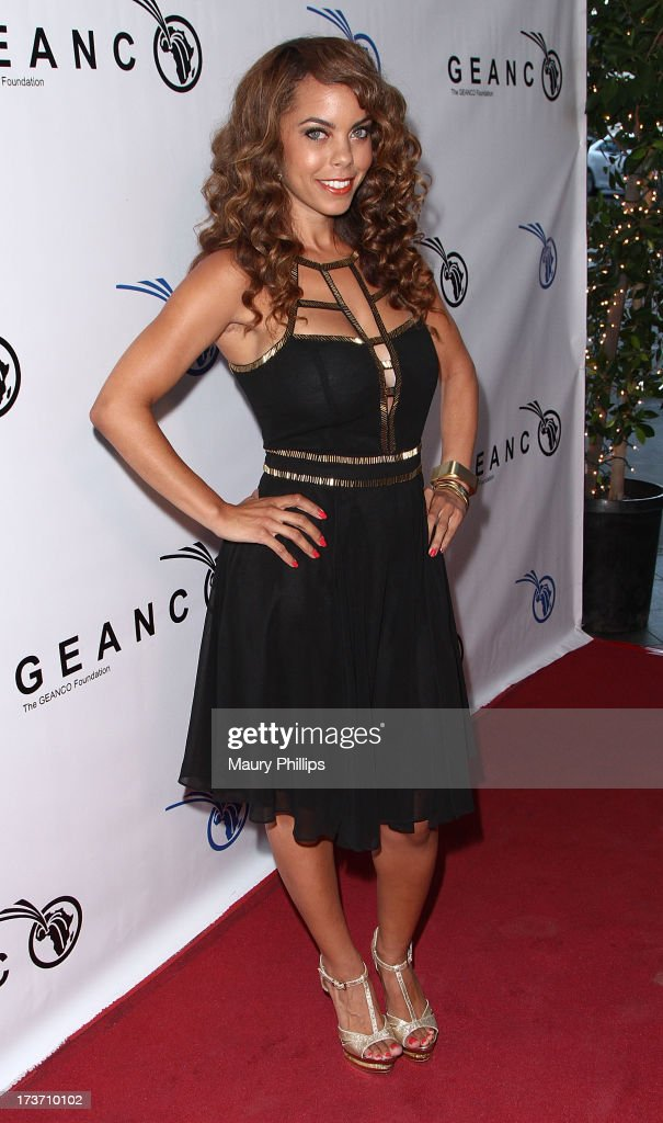 Actress Tiara Ashleigh arrives at The GEANCO Foundation's 'Impact Africa' Fundraiser at Bootsy Bellows on July 16, 2013 in West Hollywood, California.