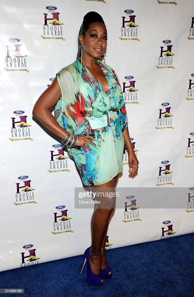 Actress Tichina Arnold arrives at the ninth annual Ford Hoodie Awards at the Mandalay Bay Events Center August 13, 2011 in Las Vegas, Nevada.