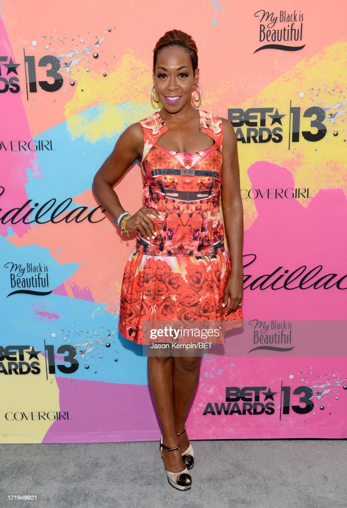 Actress <a gi-track='captionPersonalityLinkClicked' href=/galleries/search?phrase=Tichina+Arnold&family=editorial&specificpeople=593825 ng-click='$event.stopPropagation()'>Tichina Arnold</a> attends Debra Lee's Pre-BET Awards Celebration Dinner at Milk Studios on June 29, 2013 in Los Angeles, California.
