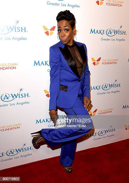 Actress Tichina Arnold attends MakeAWish Greater Los Angeles Honoring Oscar De La Hoya Michael Rosenfeld And Tom Mone at its Annual Wishing Well...