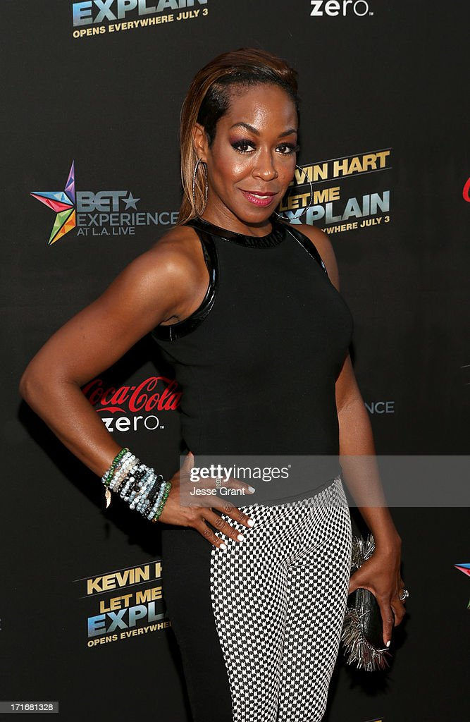 Actress Tichina Arnold attends Movie Premiere 'Let Me Explain' with Kevin Hart during the 2013 BET Experience at Regal Cinemas L.A. Live on June 27, 2013 in Los Angeles, California.