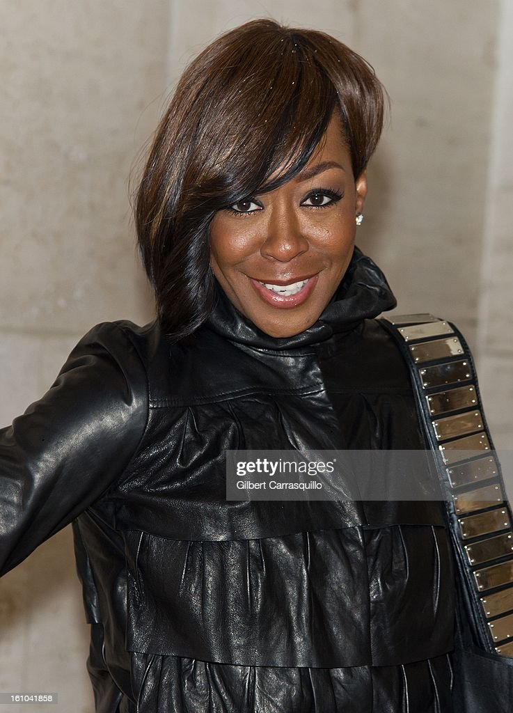 Actress Tichina Arnold attends the Fall 2013 Mercedes-Benz Fashion Show at The Theater at Lincoln Center on February 8, 2013 in New York City.