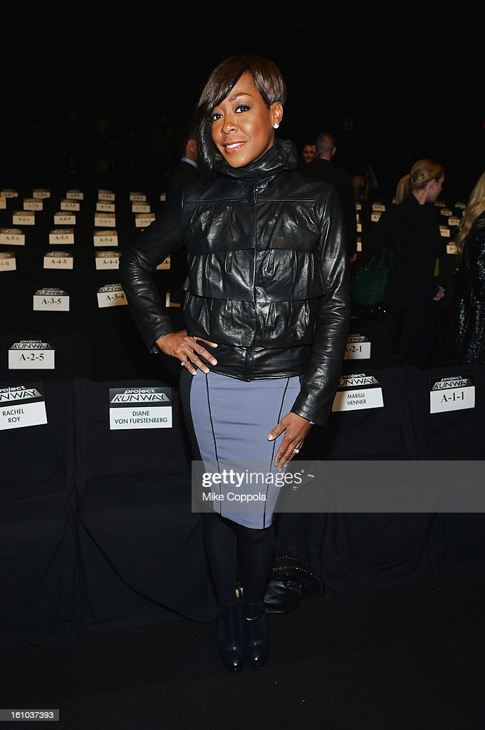 Actress Tichina Arnold attends the Project Runway Fall 2013 fashion show during Mercedes-Benz Fashion Week at The Theatre at Lincoln Center on February 8, 2013 in New York City.
