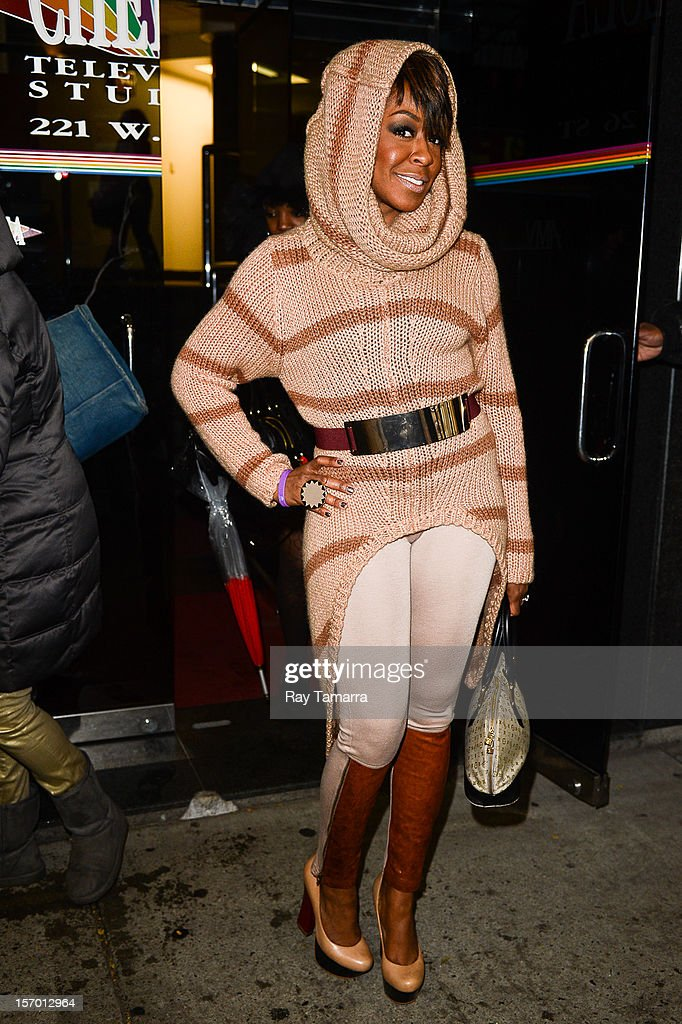 Actress Tichina Arnold leaves the 'Wendy Williams Show' taping at the Chelsea Studios on November 27, 2012 in New York City.