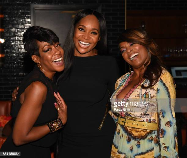 Actress Tichina Arnold Marlo Hampton and Catherine Brewton at Survivor's Remorse x Upscale Magazine 'Champions Table' Private Dinner at American Cut...