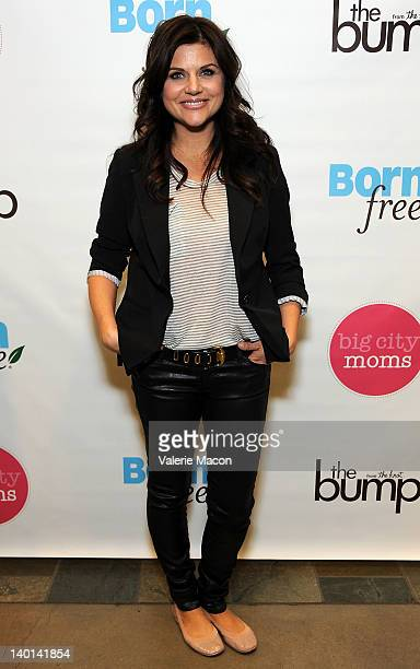 Actress Tiffani Thiessen arrives at the Biggest Baby Shower Hosted By Big City Moms And TheBump at Skirball Cultural Center on February 28 2012 in...