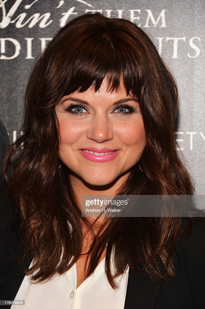 Actress Tiffani Thiessen attends the Downtown Calvin Klein with The Cinema Society screening of IFC Films' 'Ain't Them Bodies Saints' at the Museum...