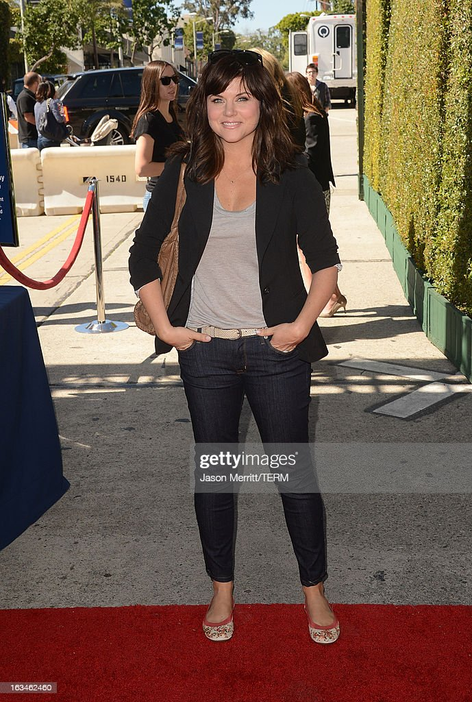 Actress Tiffani Thiessen attends the John Varvatos 10th Annual Stuart House Benefit presented by Chrysler, Kids Tent by Hasbro Studios, at John Varvatos Los Angeles on March 10, 2013 in Los Angeles, California.