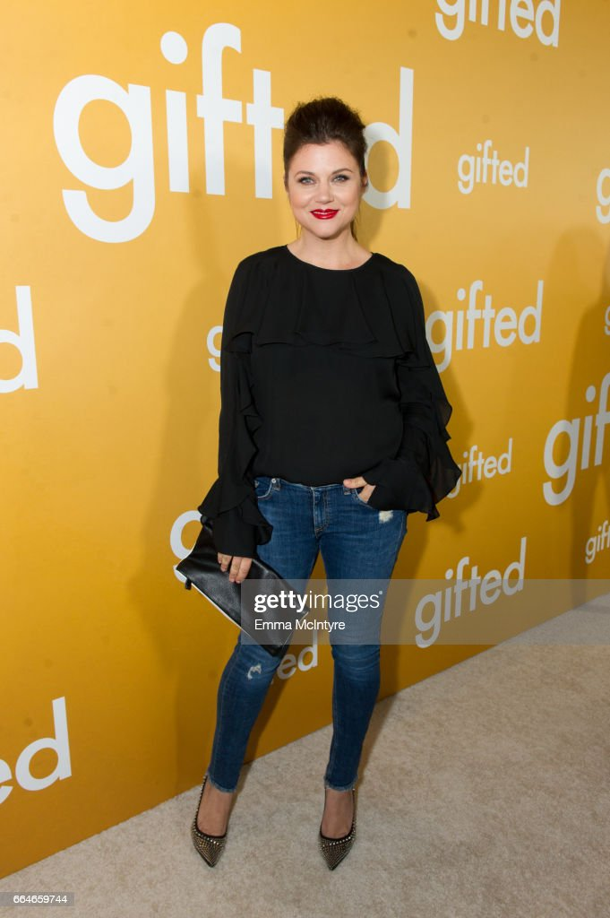 Actress Tiffany Amber Thiessan arrives at the premiere of Fox Searchlight Pictures' 'Gifted' at Pacific Theaters at the Grove on April 4, 2017 in Los Angeles, California.