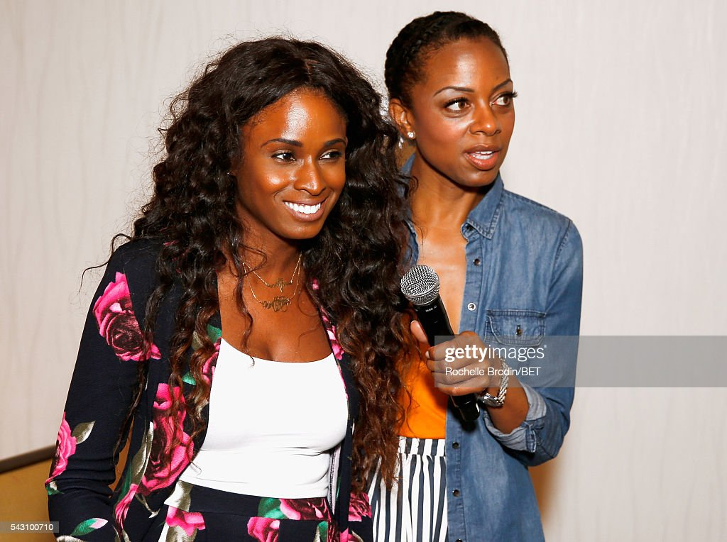 Actress Tiffany Black (L) and TV personality Nischelle Turner attend the ABFF Encore @ BET Experience Screening The Life of a Showrunner / Master Class during the 2016 BET Experience on June 25, 2016 in Los Angeles, California.