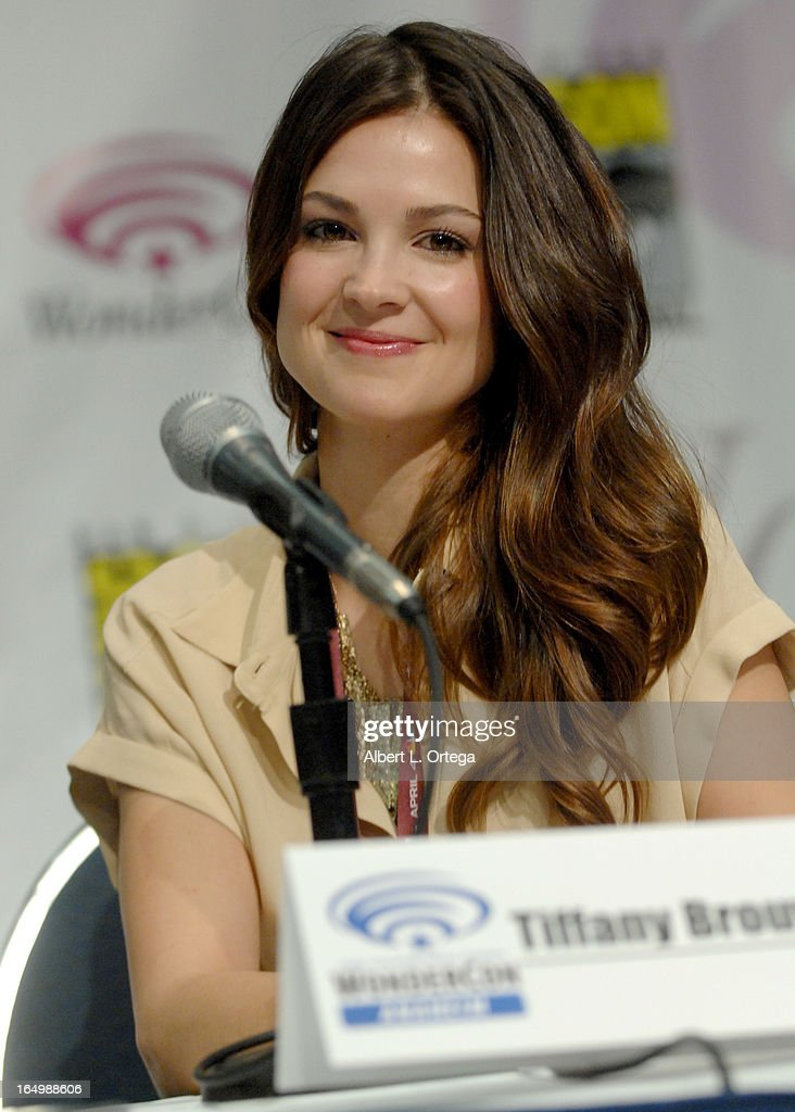 Actress Tiffany Brouwer promotes Cinemax's 'Femme Fatales' at WonderCon Anaheim 2013 - Day 1 at Anaheim Convention Center on March 29, 2013 in Anaheim, California.
