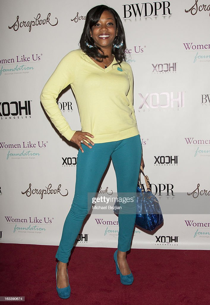 Actress Tiffany Haddish (shoe detail) attends Pre-LAFW Launch Party In Support Of The Women Like Us Foundation at Lexington Social House on March 8, 2013 in Hollywood, California.